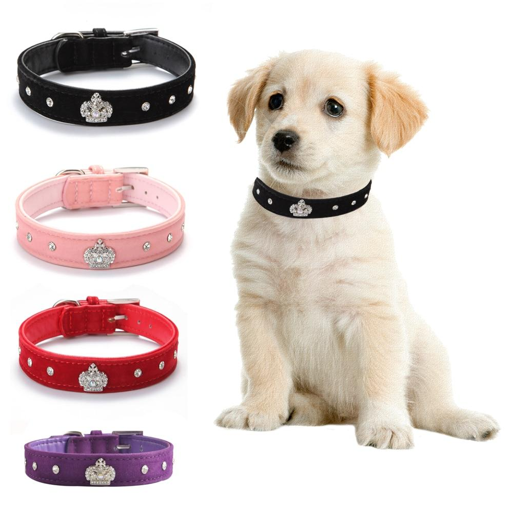 Dog Collar Soft Velvet Material