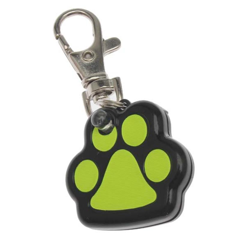 Footprint Shape Pet Dog Safety Collar Pendent