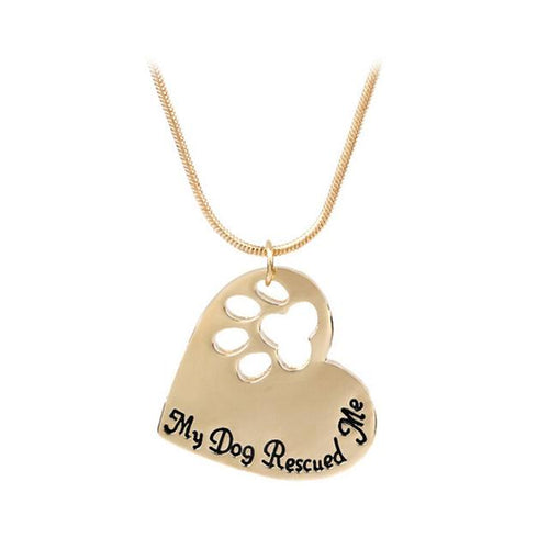 Pet Necklace Gift Hollow Dog Paw Gold Necklace