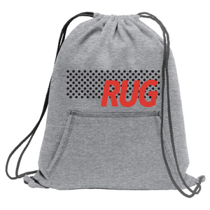 Drawstring Backpack- Gray Rug Bold