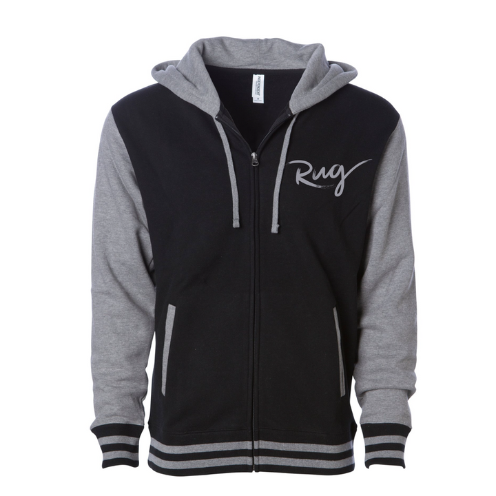 Jacket - Black/Grey Rug Cursive