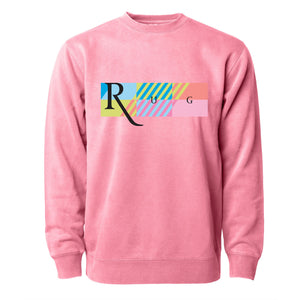 Crew Sweatshirt - Pink Stripes