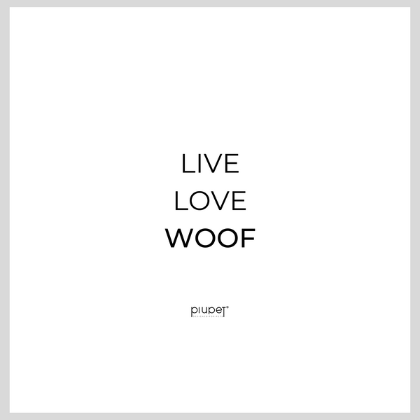 Live.Love.Woof white  - Damen Organic Shirt
