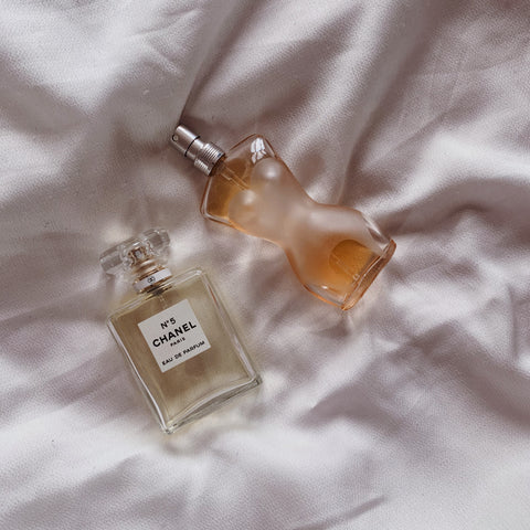 Chanel No 5 perfume and Jean Paul Gaultier