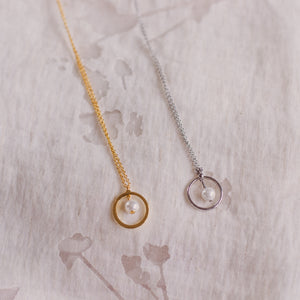 Single Drop Pearl Necklace