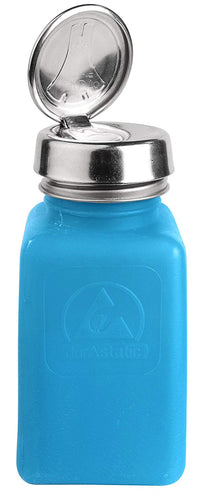 ESD-Safe 8 oz Blue Alcohol Dispenser Bottle with One-Touch Pump Top