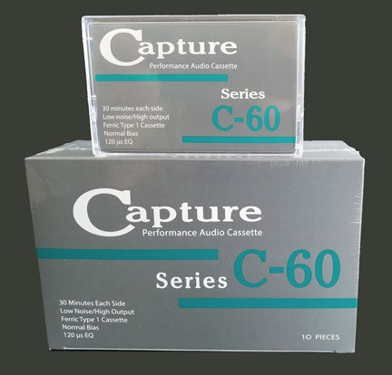 Capture | C-60 Type I Audio Cassette Tape [10 Pack]