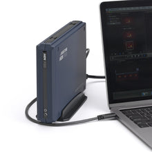 Load image into Gallery viewer, AVASTOR HDX PRO | 7200 RPM External Hard Drive with Lockbox [USB-C] plugged into lapqtop.