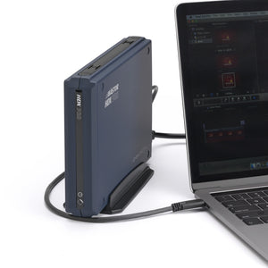 AVASTOR HDX PRO | 7200 RPM External Hard Drive with Lockbox [USB-C] plugged into lapqtop.