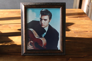 Wood Framed Elvis Photo