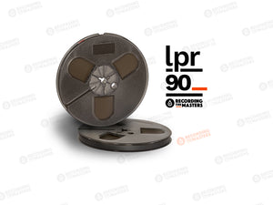 "Recording The Masters LPR90 1/4"" x 1800' Audio Tape on a 7"" Plastic Reel with Trident Hub in Hinged Box"