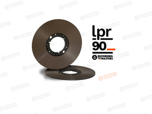 "Recording The Masters LPR90 1/4"" x 3608'' x 10"" Audio Tape Pancake on a NAB Hub in Cardboard Box"