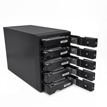 Load image into Gallery viewer, OYEN DIGITAL Mobius | 5-Bay RAID System [FW800, eSATA & USB3] Front Open
