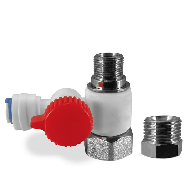 "Feed Adapter Valve Quick Connect Fits Both 3/8"" & 1/2"" - dev-express-water"