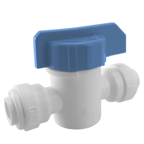 "Straight Inline Ball Valve 1/4"" Quick Connect Fitting"