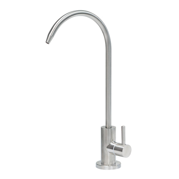 Express Water Modern Water Filter Faucet – Stainless Steel Brushed Nickel Coke-Shaped Faucet – 100% Lead-Free Drinking Water Faucet – Compatible with Reverse Osmosis Water Filtration Systems