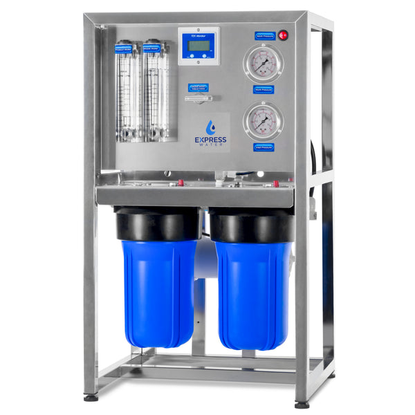 300 GPD Commercial Reverse Osmosis Water Filtration System – 3 Stage High Capacity RO Filtration – Includes Pump, Gauges, Membrane - dev-express-water