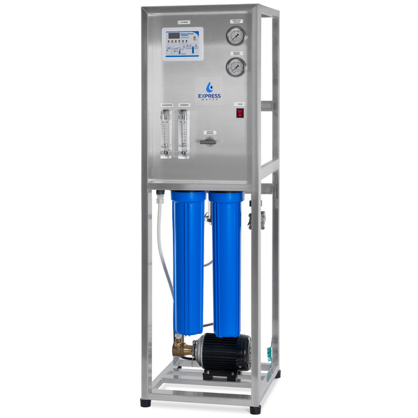 800 GPD Commercial Reverse Osmosis Water Filtration System – 3 Stage High Capacity RO Filtration – Includes Pump, Gauges, Membrane - dev-express-water