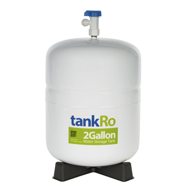 2 Gallon RO Expansion Tank – Compact Reverse Osmosis Water Storage Pressure Tank Reservoir by tankRO – with FREE Tank Ball Valve - dev-express-water