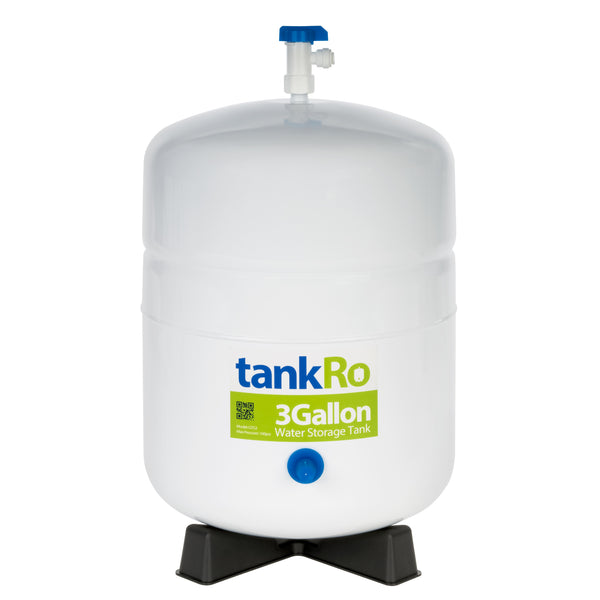 3 Gallon RO Expansion Tank – Compact Reverse Osmosis Water Storage Pressure Tank by tankRO – with FREE Tank Ball Valve - dev-express-water