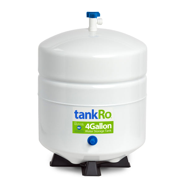 RO Expansion Tank 4 Gallon – NSF Certified – Compact Reverse Osmosis Water Storage Pressure Tank by tankRO – with FREE Tank Ball Valve - dev-express-water
