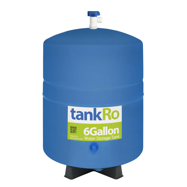 6 Gallon RO Expansion Tank – Compact Reverse Osmosis Water Storage Pressure Tank by tankRO – with FREE Tank Ball Valve