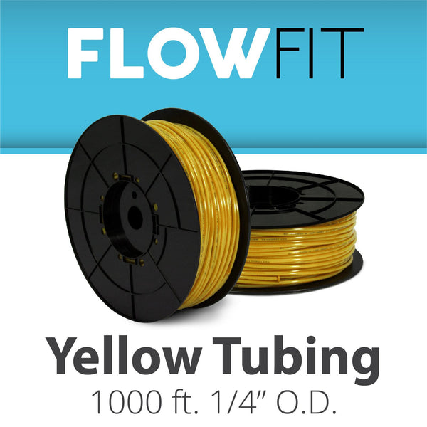 "Yellow 1/4"" (quarter inch) PE Tubing for RO System 1000 feet"