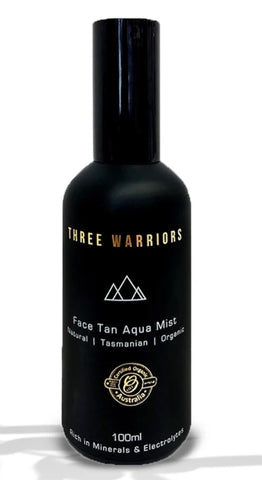Three Warriors Face Tan Aqua Mist