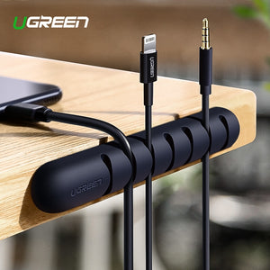 USB Cable Flexible Holder For Mouse Headphone Earphone- Cable Management Clips
