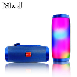 LED Lights Bluetooth Speaker HIFI Stereo Wireless Portable with Mic