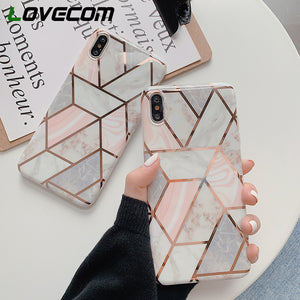 Soft Marble Texture Phone Cases For iPhone XR XS Max 6 6S 7 8 Plus X