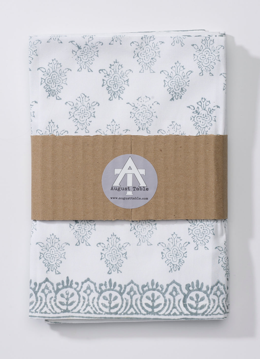 "August Table ""August"" Napkins in Tern Gray - set of 4"