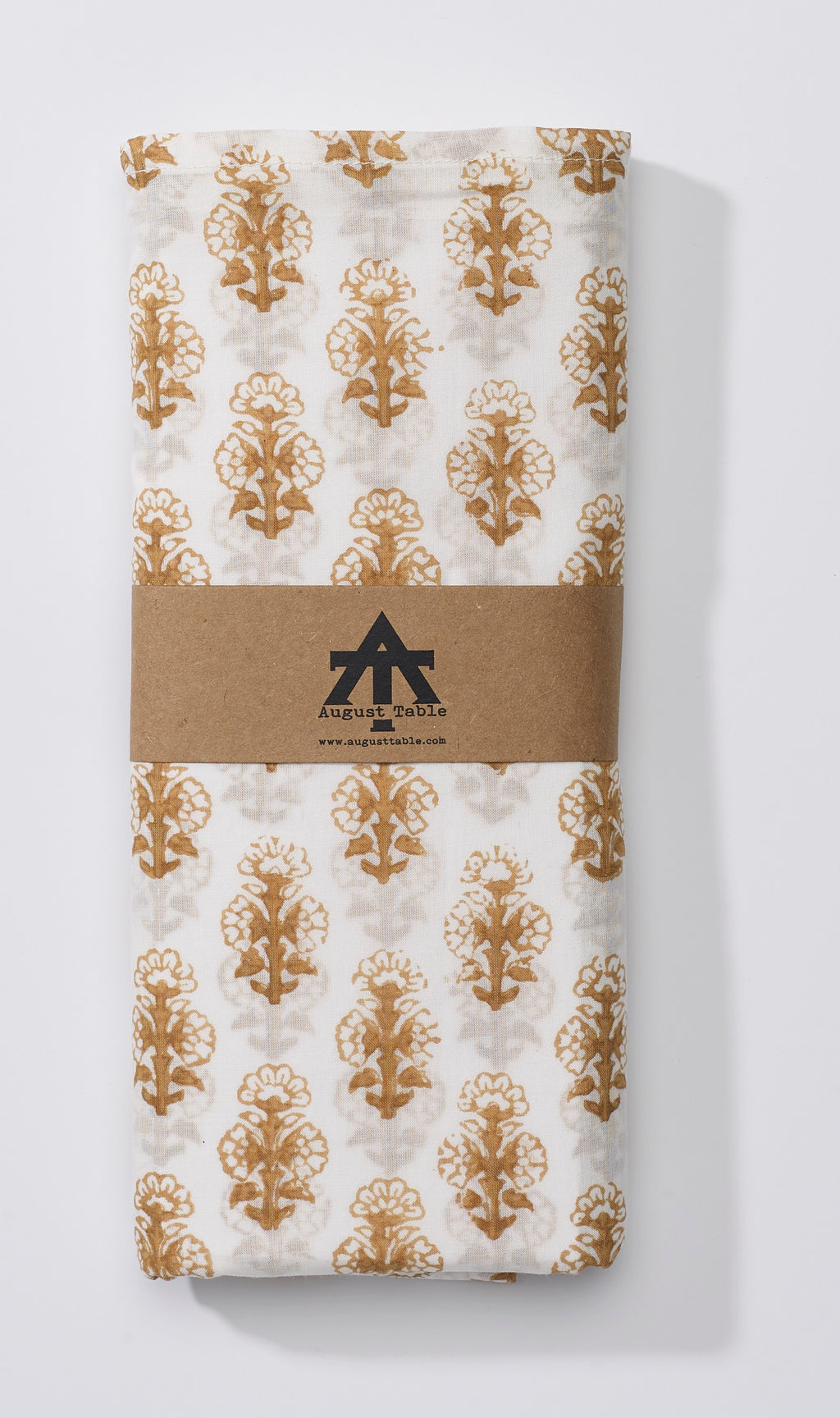 August Table Talelayo print Tablecloth in Kolkata Brown