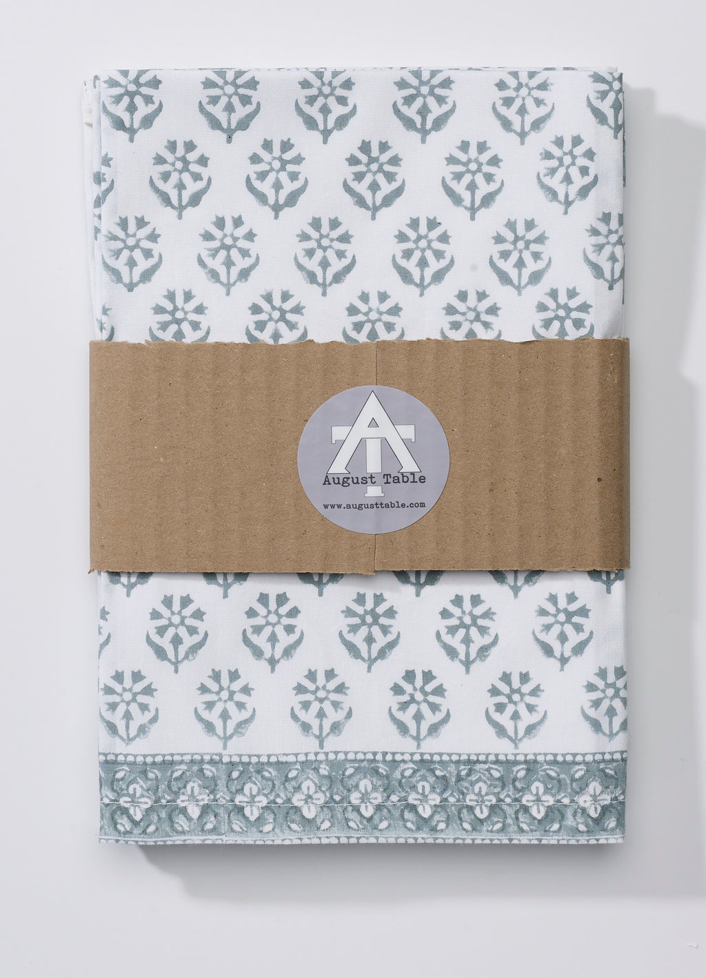 "August Table ""Sequoia"" Napkins in Tern Gray - set of 4"