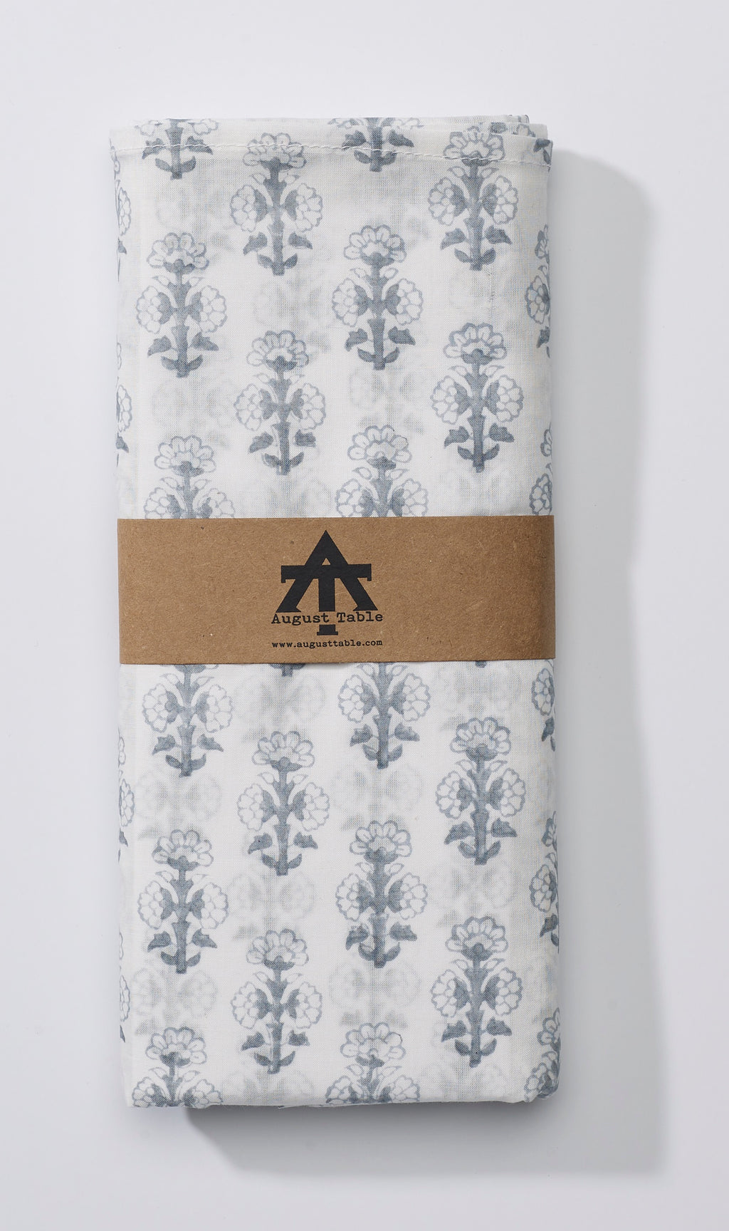 August Table Talelayo print Tablecloth in Tern Gray