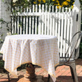 "August Table ""Here Comes the Sun"" Tablecloth in Tanager Yellow"
