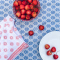 August Table Sequoia print Tablecloth in Bunting Blue