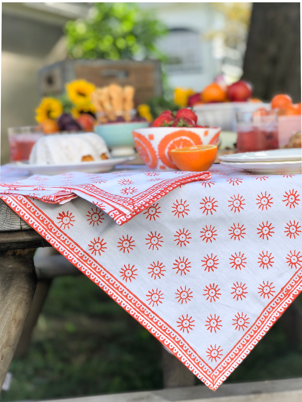 "August Table ""Here Comes the Sun"" Tablecloth"
