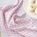 August Table Kitchen Towel in Kestrel Pink Sequoia print - set of 2
