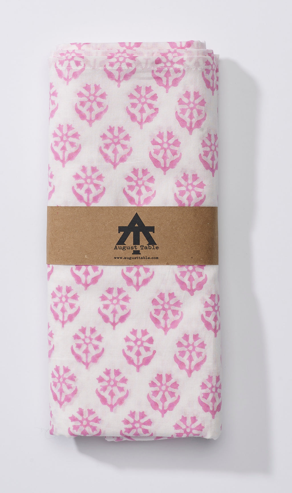 August Table Scarf - Sequoia print in Kestrel Pink