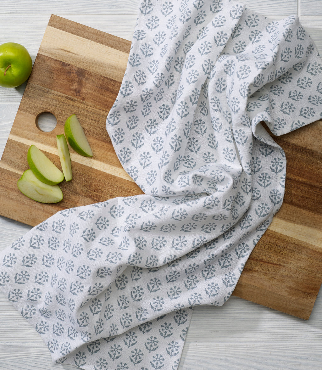 Kitchen Towel in Tern Gray Sequoia print - set of 2