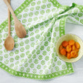 "August Table ""Sequoia"" Napkins in Linnet Green - set of 4"