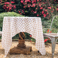 Talelayo print Lightweight Tablecloth in Kolkata Brown