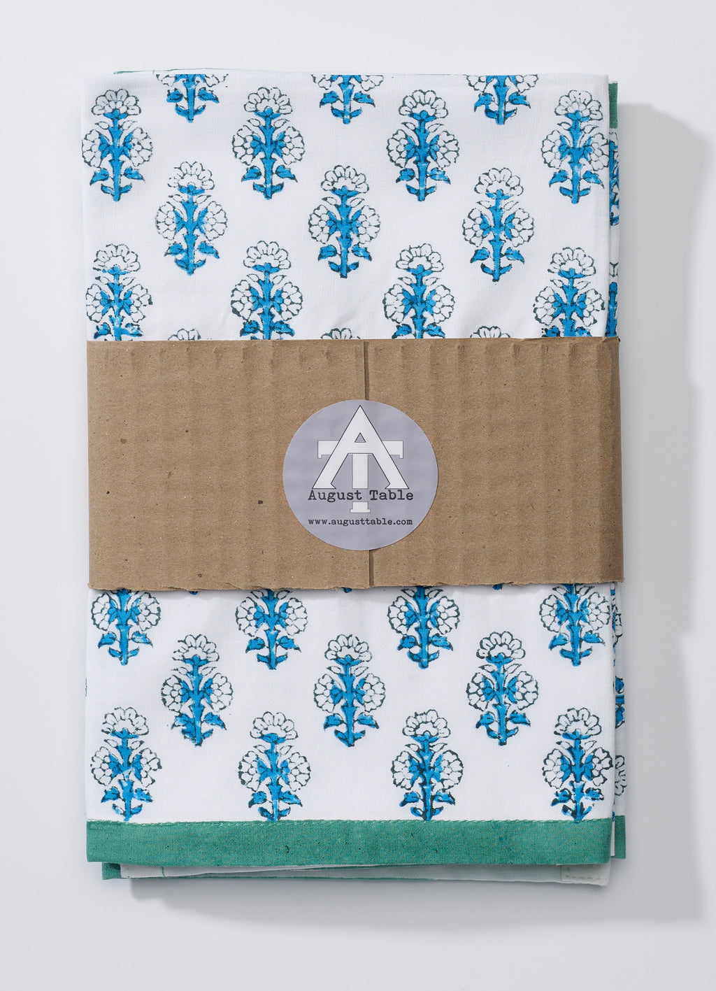 "August Table ""Talelayo"" Napkins - set of 4 in blue and green"