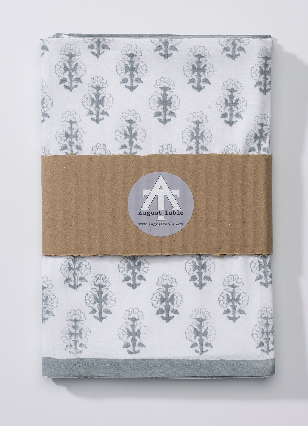 "August Table ""Talelayo"" Napkins - set of 4 in Tern Gray"