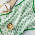 "August Table ""Talelayo"" Napkins - set of 4 in Linnet Green"