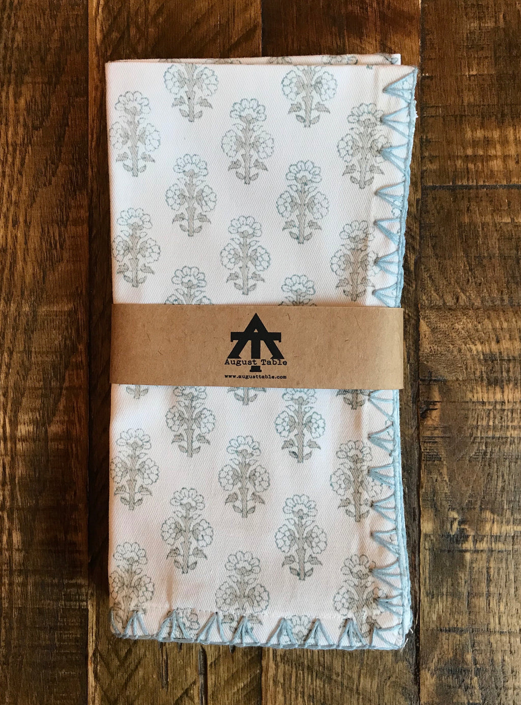 "August Table ""Talelayo"" Napkins - set of 4 in Sparrow"