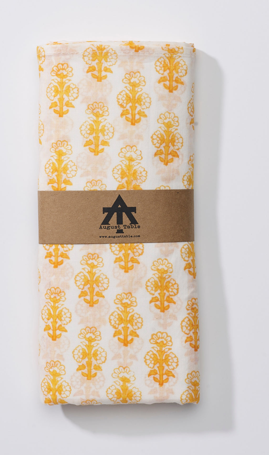 August Table Scarf - Talelayo print in Tanager Yellow