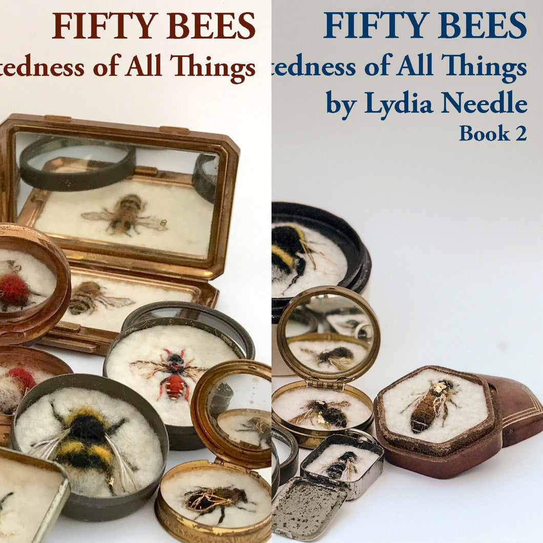 The two books from the FIFTY BEES exhibitions