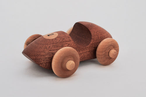 Mahogany and maple race-car